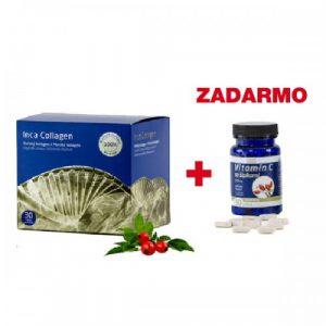 Inca Collagen 100% čistý morský bio-aktívny kolagén 30ks + vitamín C