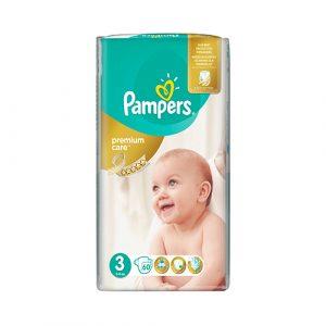 Pampers detské plienky Premium Care Midi (3) 60 ks