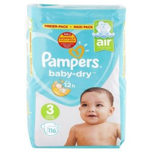 PAMPERS Baby Dry detské plienky 3 6-10 kg 116 ks