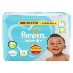 PAMPERS Baby Dry detské plienky 5+ 12-17 kg 84 ks