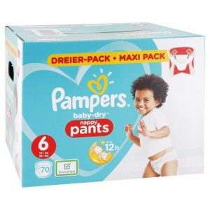 PAMPERS Baby Dry nohavičkové plienky 6 15+ kg 70 ks